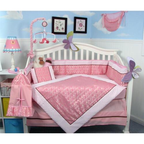 SoHo Pink Paisleyl Baby Crib Nursery Bedding Set 13 pcs included Diaper Bag in Baby, Nursery Bedding, Crib Bedding | eBay