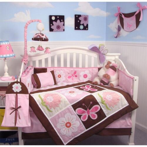 SoHo Sweetie Garden Baby Crib Nursery Bedding 13 pcs Set included Diaper Bag in Baby, Nursery Bedding, Crib Bedding | eBay