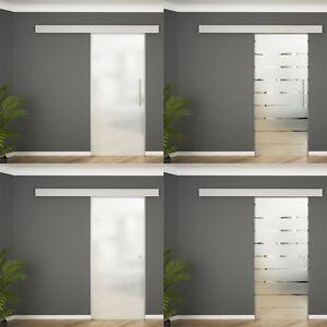 soft close glasschiebet r glast r schiebet r satiniert oder gestreift 8mm esg ebay. Black Bedroom Furniture Sets. Home Design Ideas