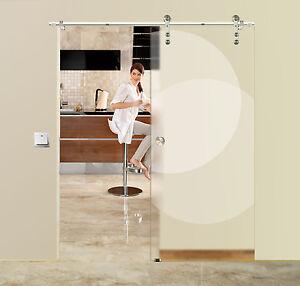 Soft-Stop-Glasschiebetuer-Schiebetuer-900-x-2050mm-Edelstahl-BB8900ASS