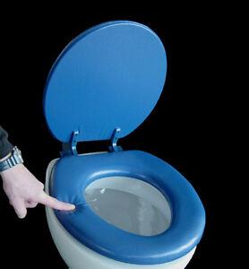soft wc sitz lugano blau gepolstert neu ovp toilettendeckel klodeckel wc deckel ebay. Black Bedroom Furniture Sets. Home Design Ideas