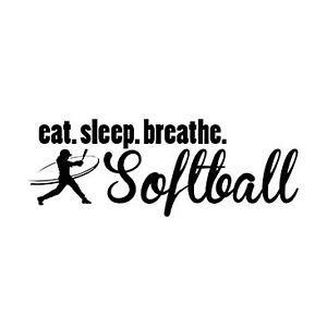 Softball T Shirt Eat Sleep Breathe Softball Tee Girl Swinging Bat ...
