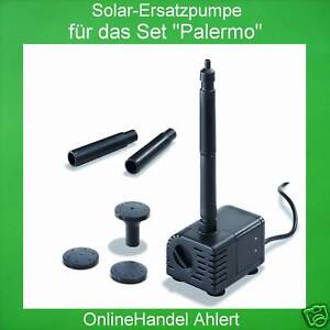 solar ersatzpumpe mit filter solarpumpe teichpumpe pumpe gartenteichpumpe teich ebay. Black Bedroom Furniture Sets. Home Design Ideas