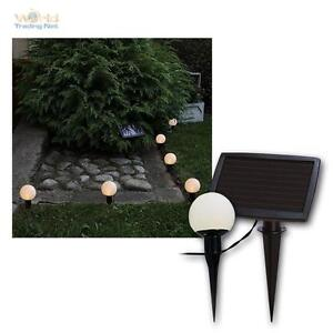 solar led lichterkette mit 6 kugeln h ngen o stecken zb wegbeleuchtung ebay. Black Bedroom Furniture Sets. Home Design Ideas