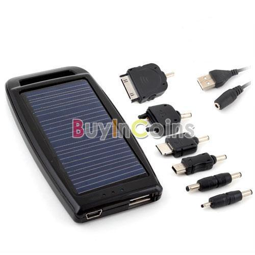 Solar USB AC Power Charger Cell Phone iPhone 3GS iPod