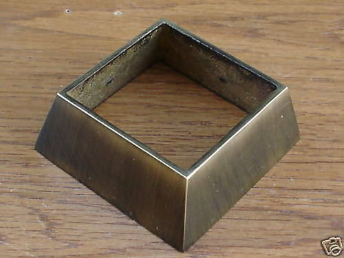 Solid Brass Square Leg Cap Cabinet Furniture Hardware