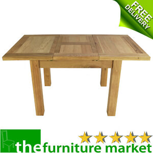 Solid Oxford Oak Small Extending Table 6 People Kitchen Dining Furniture Ox19 Ebay