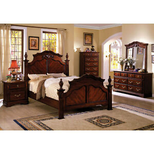 bedroom sets solid wood lewisburg dark cherry finish 6 piece bedroom