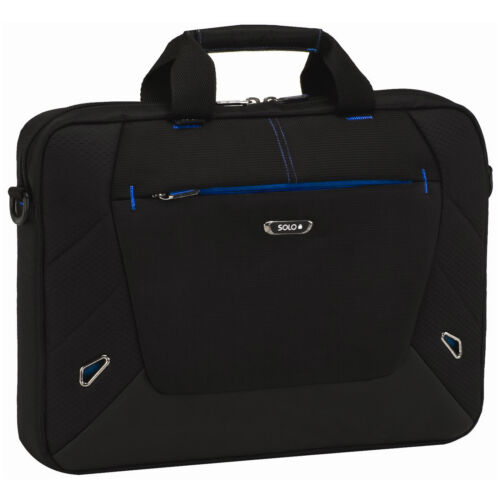 "Solo Tech Slim Brief Laptop Bag w/ Adjustable Shoulder Strap - Fits up to 16"" in Computers/Tablets & Networking, Laptop & Desktop Accessories, Laptop Cases & Bags 