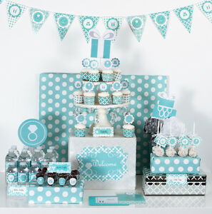Something blue bridal shower theme mod party decorations kit ebay