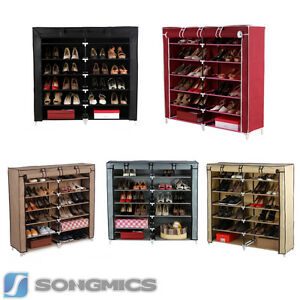 songmics 7 schicht schuhregal stiefelregal schuhschrank schuhst nder f r schuhe ebay. Black Bedroom Furniture Sets. Home Design Ideas