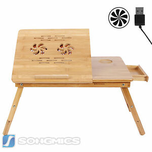 songmics pc notebook laptop bett tisch schreibtisch bambus. Black Bedroom Furniture Sets. Home Design Ideas