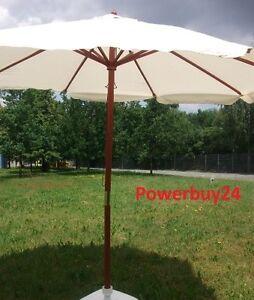 sonnenschirm gartenschirm marktschirm holz beige 3 meter landhausschirm ebay. Black Bedroom Furniture Sets. Home Design Ideas