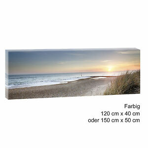 sonnenuntergang bild strand meer keilrahmen leinwand posterxxl 120cm 40cm 500 ebay. Black Bedroom Furniture Sets. Home Design Ideas