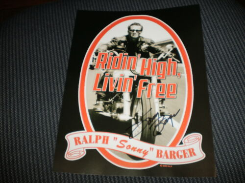 Sonny Barger signed flyer 8X10 Hells Angels in Collectibles, Autographs, Celebrities | eBay