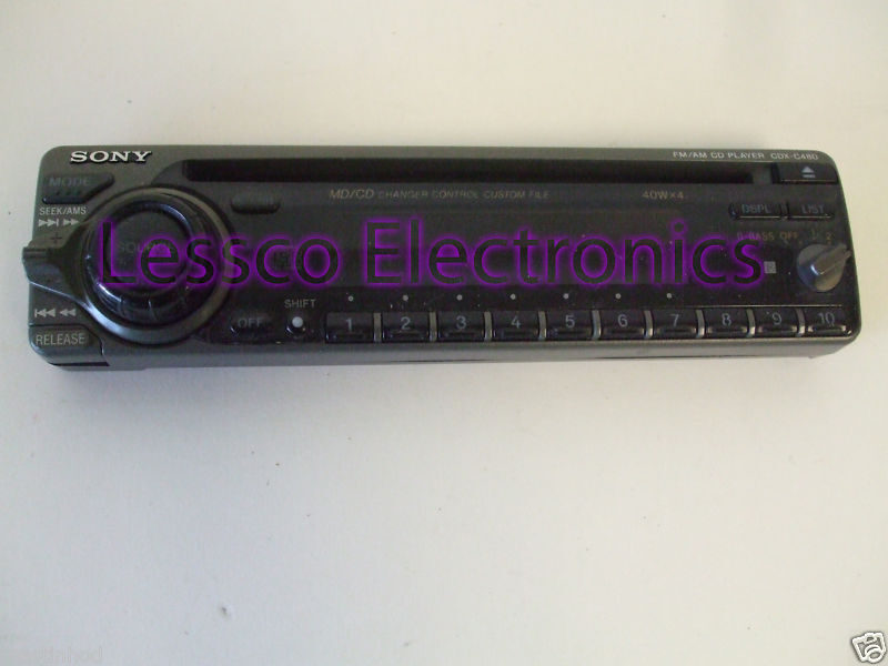 sony cdx 4180 detatchable car stereo face plate on popscreensony cdx 4180 detatchable car stereo face plate