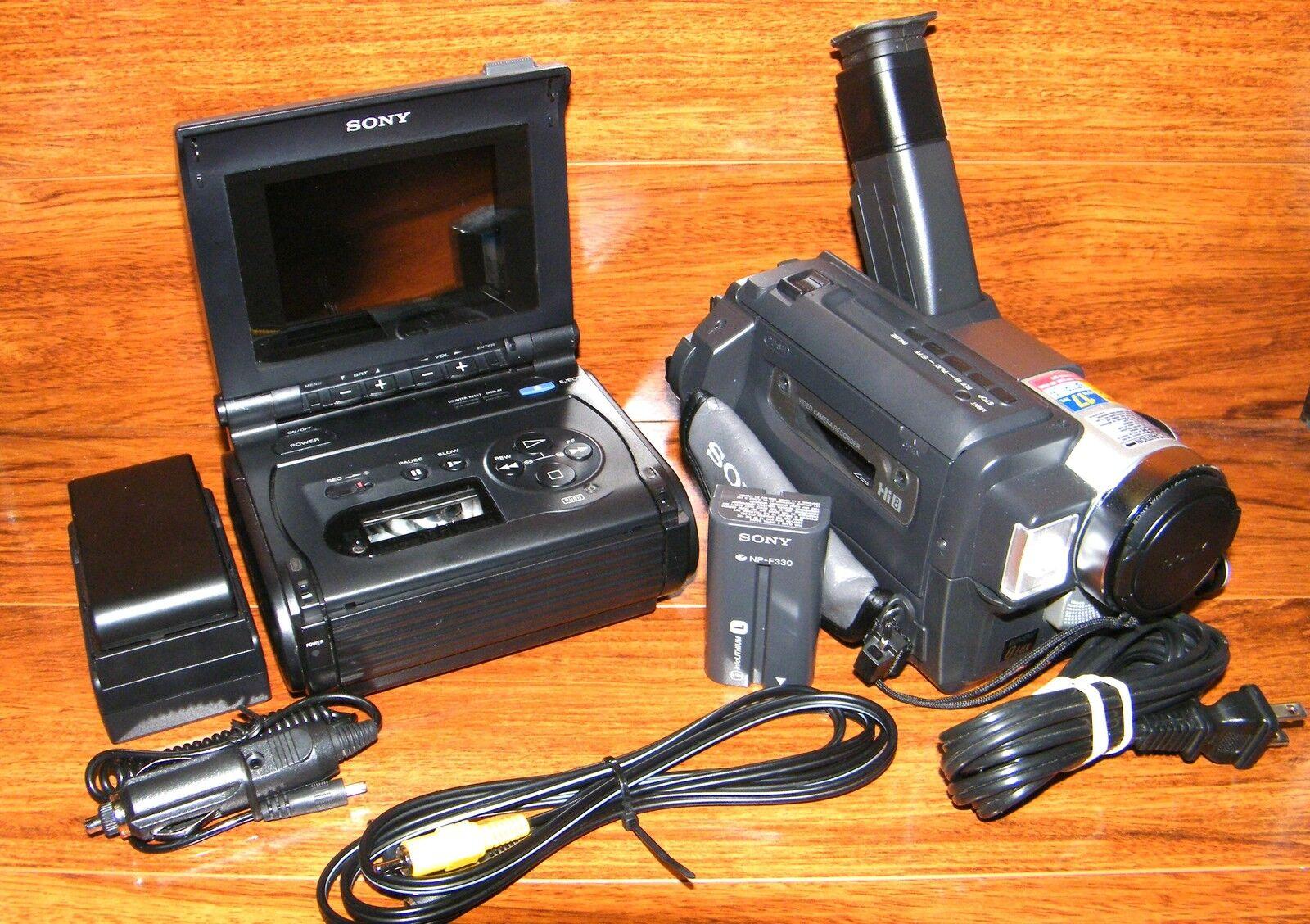 Sony Gvs50 8mm Video8 Hi8 Video Walkman Amp Trv58 Nightshot