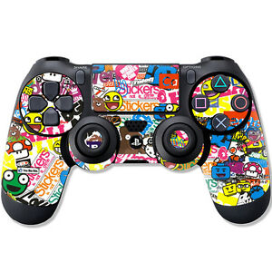 Sony-PS4-Controller-Skin-STICKER-Design-Schutzfolie-Folie-Set-Playstation