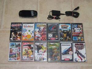 Sony-PSP-Schwarz-mit-10-Gratis-Spiele-Zubehoerpaket
