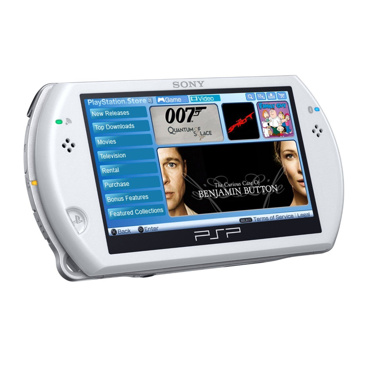 Great Sony Psp Go Portable Playstation N1001 Pearl White Handheld System Console Ebay