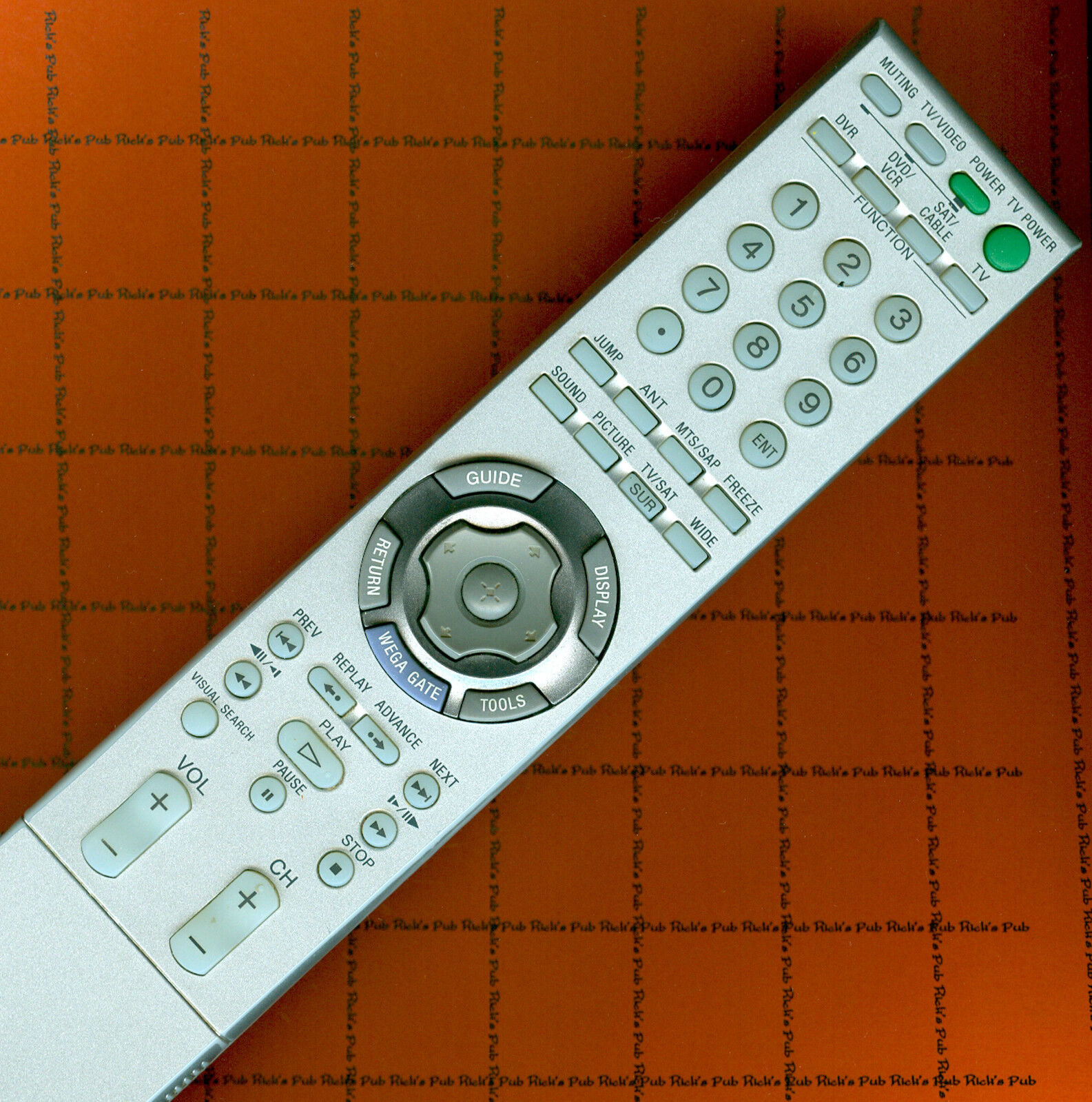 sony tv remote control instructions