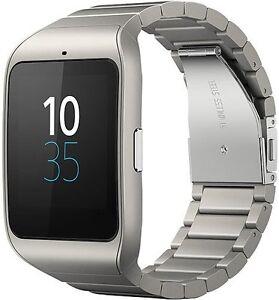 Sony-Xperia-Smart-Watch-3-SWR50-metall-1-6-Zoll-Wasserdicht-GPS-Ausstellungsge