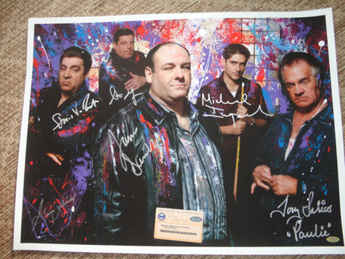 Sopranos signed x5 Steiner 18x24 George Kalinsky signed painting photo RARE in Entertainment Memorabilia, Autographs-Original, Movies | eBay