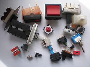 Sortiment-30-Stk-Mini-Taster-Drucktaster-Mikrotaster-Eingabetaster-Schalter