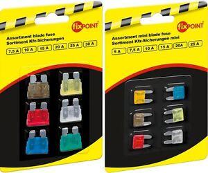 Sortiment-Kfz-Sicherungen-6-Stueck-5-30A-Flachsicherungen-und-mini-Ihre-Auswahl