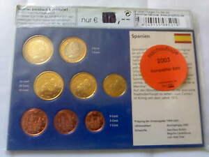 Spanien-KMS-2003-Nachauflage-Euro-Muenzen-Set-Satz-sammeln-Kursmuenzensatz