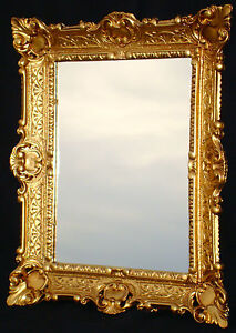 spiegel antik wandspiegel gold jugendstil badspiegel. Black Bedroom Furniture Sets. Home Design Ideas