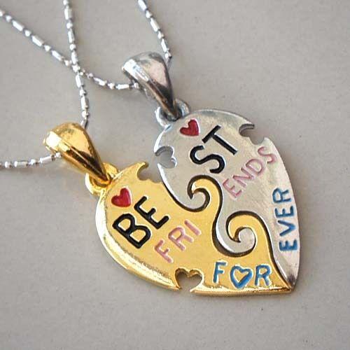 Split Heart Friendship Best Friends Forever Memorable Gold ...