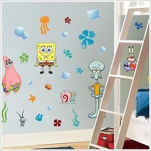 SpongeBob Squarepants 45 BiG Wall Decals Decor Stickers in Home & Garden, Home Decor, Decals, Stickers & Vinyl Art | eBay