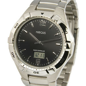 Sportliche-Herren-Funkuhr-Junghans-Uhrwerk-Edelstahl-Armbanduhr-Funk-964-6254