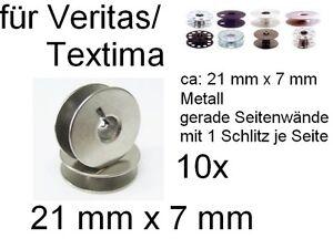 Spulen-DUNN-nur-7-mm-Dicke-Hoehe-fuer-Veritas-Textima-Metall-Schlitz-10x-mh