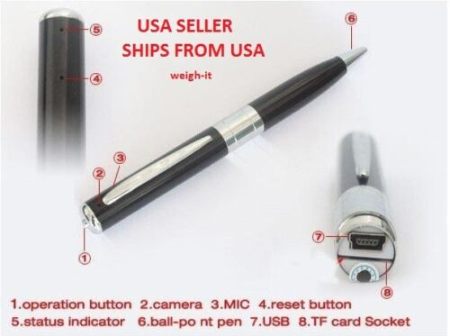 Spy Pen Hidden Camera 1280x960 DVR Video Recorder Mini Nanny Cam Micro SD USB in Consumer Electronics, Home Surveillance, Digital Video Recorders, Cards | eBay