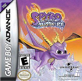 Spyro the Dragon Season of Ice Game Boy+GBA+SP+DS+ lite