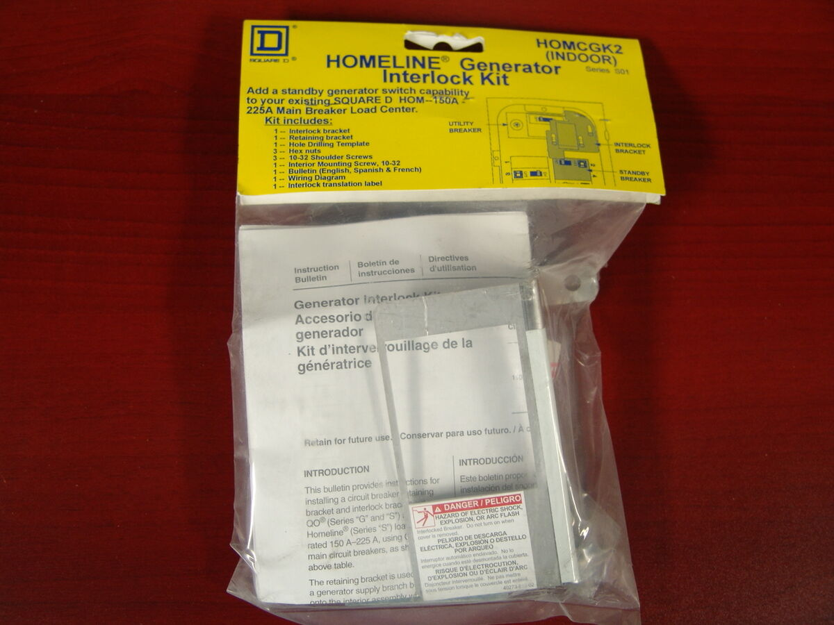 Square D Homeline Generator Interlock Kit Indoor Homcgk2 New In Wiring Diagram