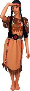 Squaw-3-teilig-Indianer-Kostuem-Indianerin-Kleid-Fasching-Wilder-Westen-Western