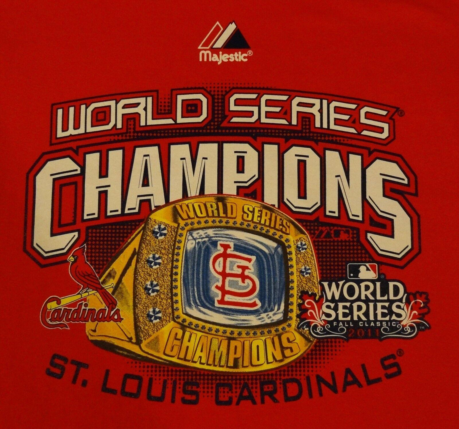 St. Louis Cardinals 2011 World Series Champions Crew Neck Sweatshirt M