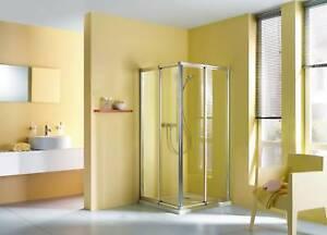 stabiler eckeinstieg 175 cm hoch 90x70 90x75 90x80 duschkabine duschabtrennung ebay. Black Bedroom Furniture Sets. Home Design Ideas