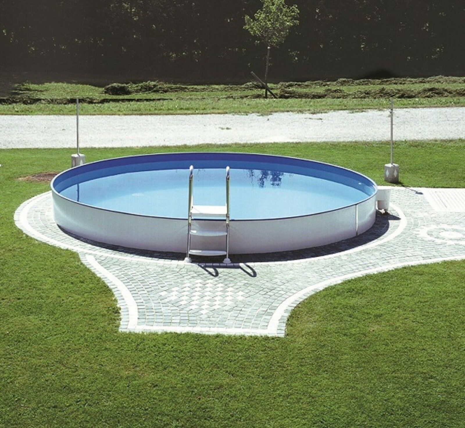 Pool schwimmbecken rund 5 00 x 1 50 m stahlwand 0 80mm for Stahlwandpool rund erdeinbau
