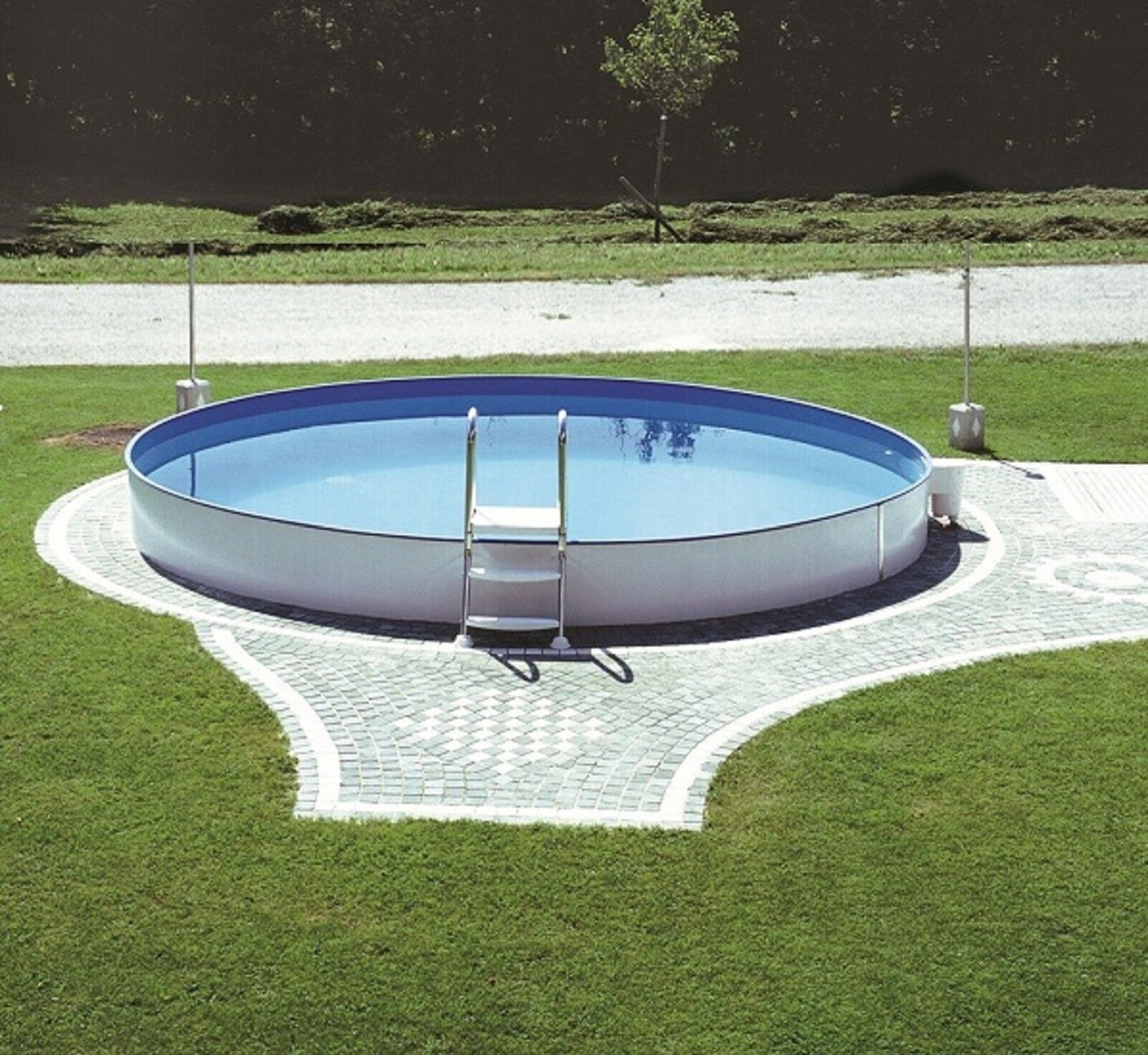 pool schwimmbecken rund 5 00 x 1 50 m stahlwand stahlwandbecken 0 80mm skimmer ebay. Black Bedroom Furniture Sets. Home Design Ideas