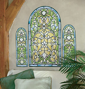 stained glass window wall mural art deco murals sticker
