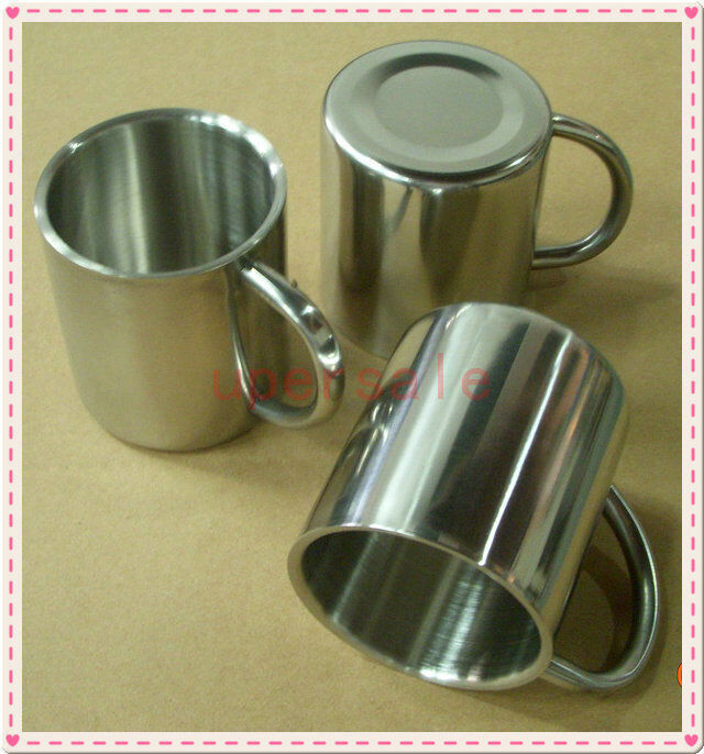 Stainless Steel Coffee Mug Tumbler Camping Mug Double Deck Bilayer Cup