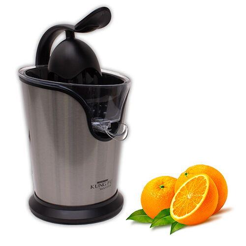 Electric Citrus Squeezer ~ Stainless steel electric citrus juicer by king fu master