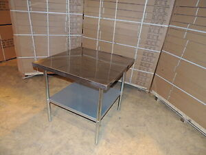 stainless steel work bench table kitchen top 900mm x 900mm