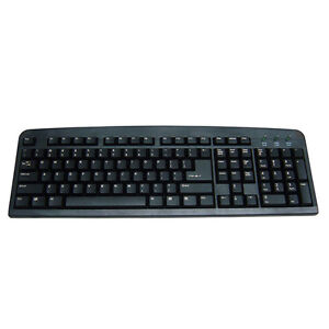 Standard-USB-Keyboard-Black-UK-Qwerty-Windows-XP-Vista-7