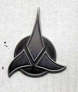 star trek klingon trifoil symbol pewter pin 25