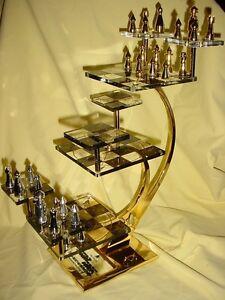 Star Trek Tng Tridimensional 3d Chess Set Franklin Mint Ebay